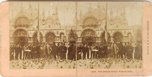 Italia-Venezia-Place-Chiamato-Foto-Stereo-Vintage-Albumina-1896-Cartone-Abisso