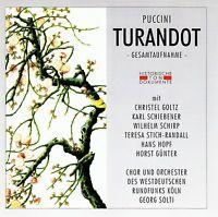 PUCCINI : TURANDOT (GA) - GEORG SOLTI / 2 CD-SET - NEUWERTIG