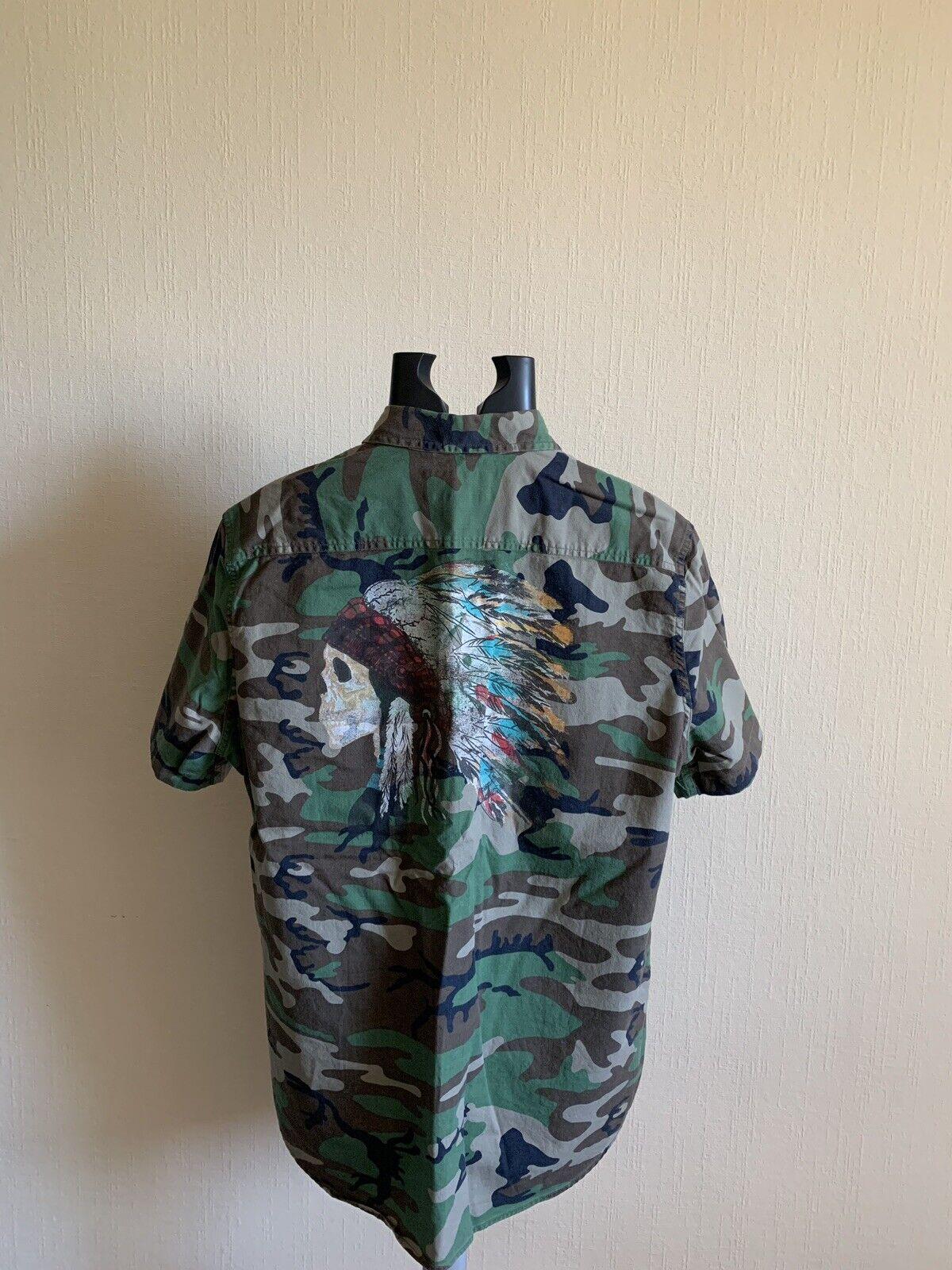 Denim & Supply Ralph Lauren Hemd Military Camo + Skull Gr. L      Förderung