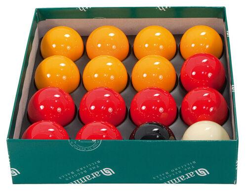 ARAMITH 1 7/8  REDS + YELLOWS PREMIER POOL BALLS