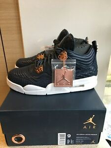 50fcb75a80373f Nike air jordan 4 retro pinnacle Obsidian Navy uk8 white black ...