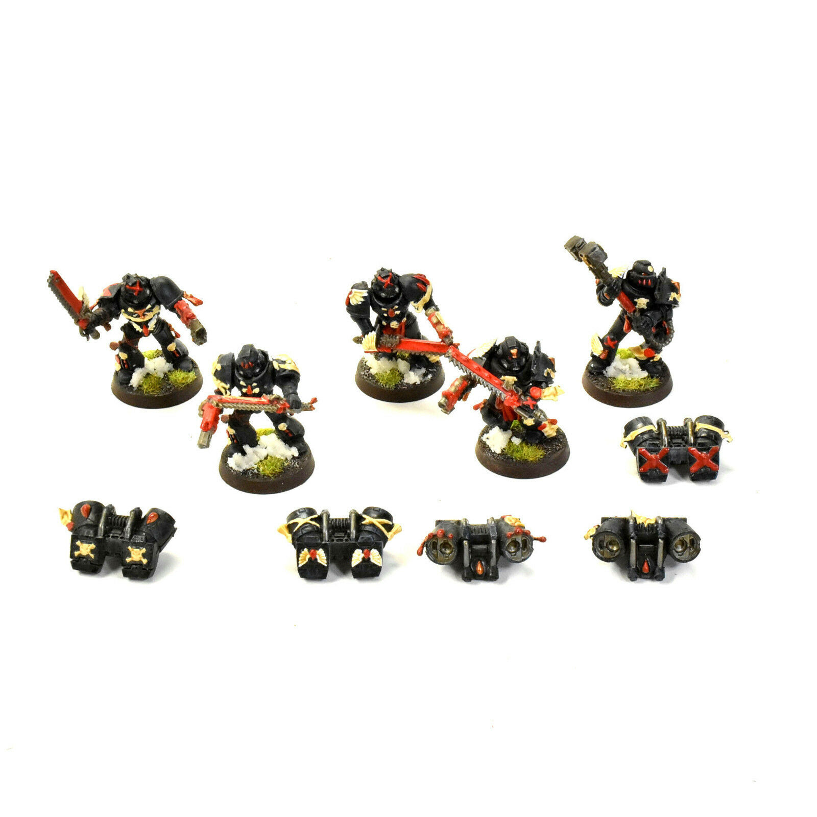 BLOOD ANGELS 5 Death Company  1 WELL PAINTED Warhammer 40K