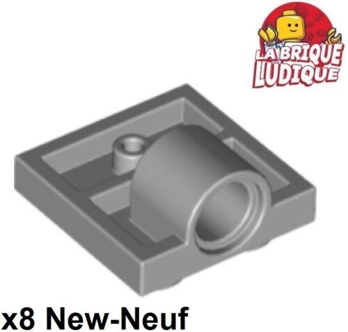 x8 Flat Modified 2x2 Pin Hole 1 Hole Grey//Light Bluish Gray 10247 New Lego