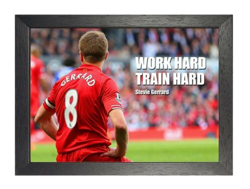 Steve Gerrard 5 Liverpool English Football Poster Sport Court Motivation Quote