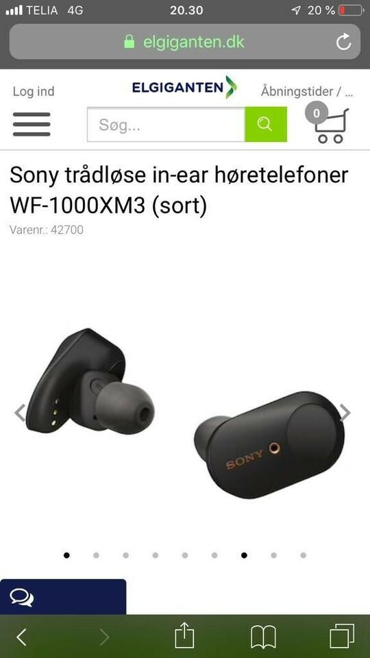 in-ear hovedtelefoner, Sony, WF-1000xm3