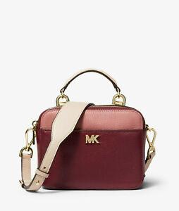 d2d267669bfd Michael Kors Mott Mini Color-Block Pebbled Leather Crossbody $178 ...
