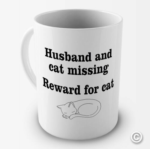 Reward For Cat Humour Funny Novelty Mug Gift Cup Husband and Cat Missing