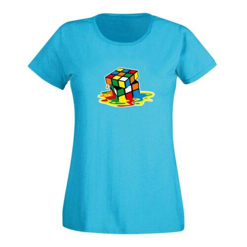 T-Shirt Cube Sheldon Big Bang Theory 80er Cube style Nerd 15 Couleurs Femmes xs-3xl