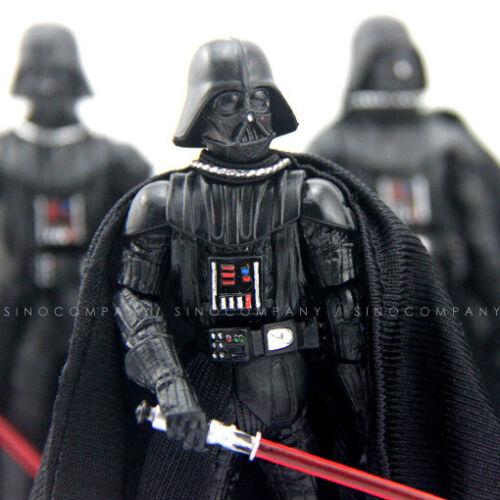"Lot 5PCS Star Wars 2005 Darth Vader 3.75/"" Collect Action Figure /& Lightsaber Toy"