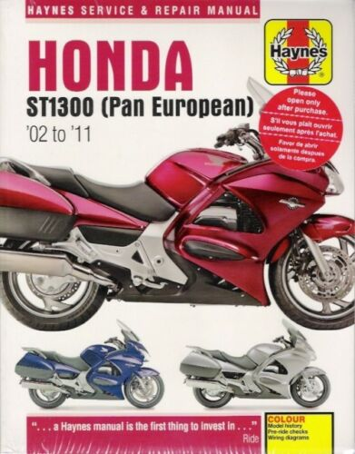 2002-2011 Honda ST1300 Pan European Haynes Service Repair Manual Book 3960