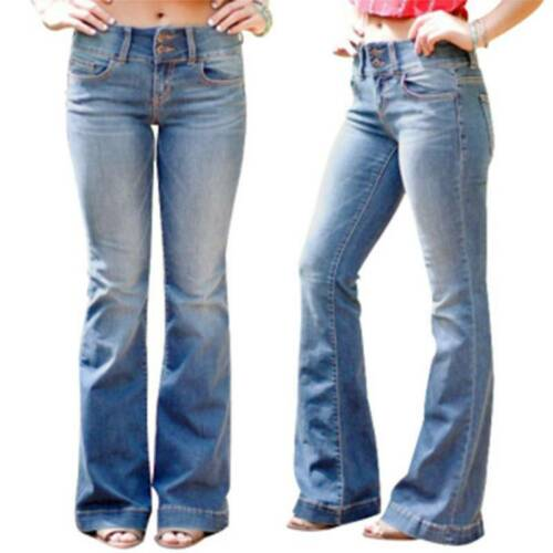 Women/'s Stretch Jeans Ladies Collection Bootcut Bootleg Trousers Slim Size 8-20