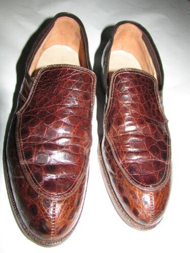 Vtg. Nettleton Mens Shoes Genuine Alligator Tradit