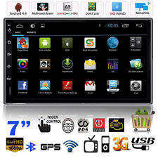 """Quad Core Android 4.4 GPS 7"""" Double 2DIN Car Radio Stereo MP5 MP3 Player 3G WIFI"""