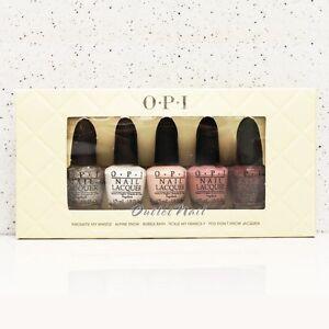 O-P-I-MINI-Nail-Lacquer-Set-5-pieces-Take-Ten-Nudes-Colors-2013-OPI-Kit