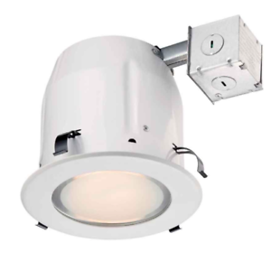 Details About Commercial Electric Recessed Lighting 5 White Shower Kit 141 895
