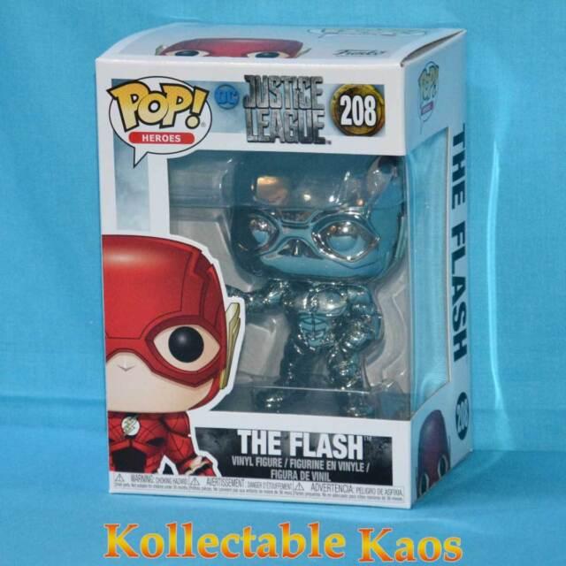 Flash Light Blue Chrome Pop Vinyl Justice League Movie