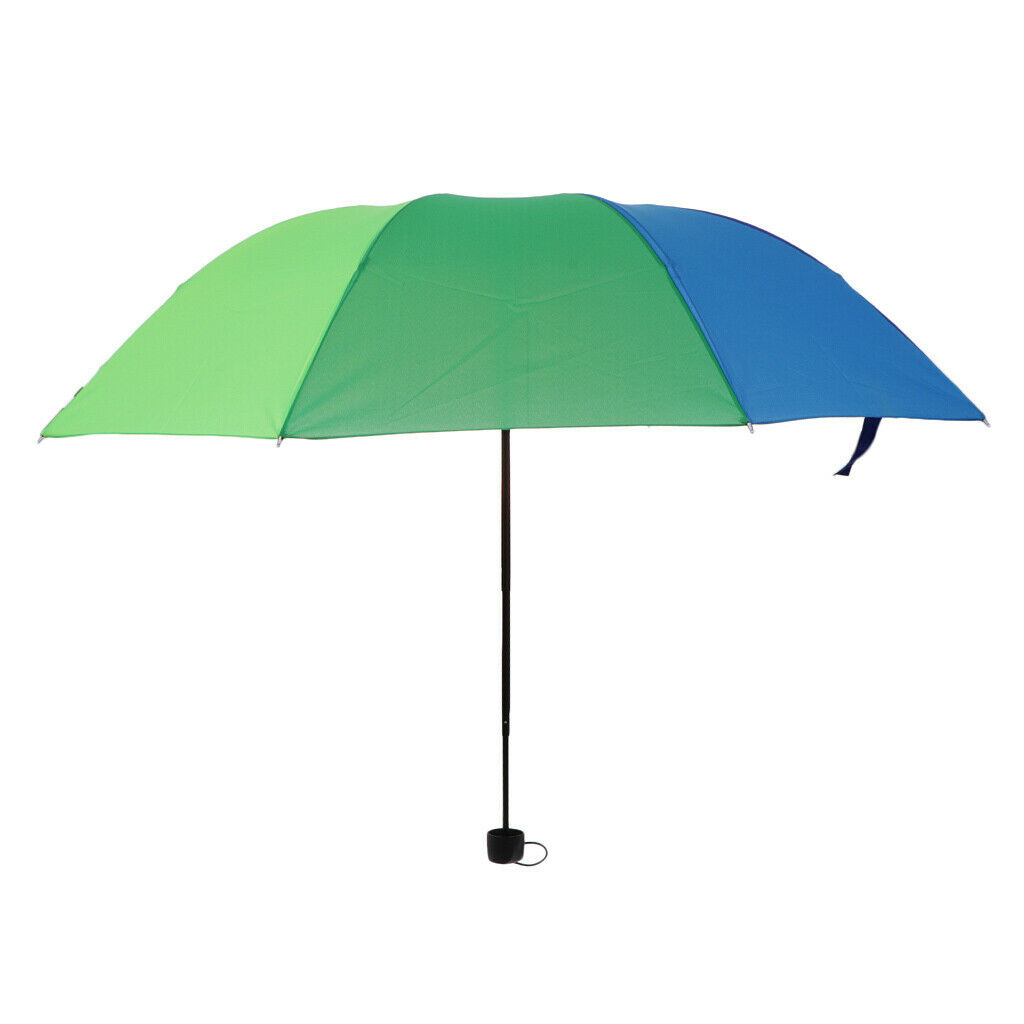 Rainbow 3 Fold Handle Fully automatic umbrella with 12 Ribs Strong Windproof