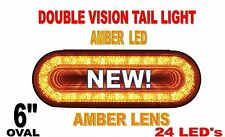 "24 LED 6"" OVAL ""MIRAGE"" TURN SIGNAL LIGHT - AMBER/AMBER"