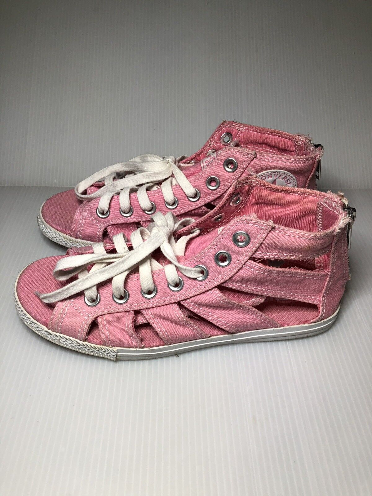 CONVERSE Pink Pink Pink Gladiators All Star Cut Away Open Toe Sandals Chuck Taylor a14dce