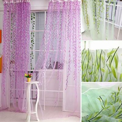 Chic Willow Tulle Voile Door Window Curtain Drape Panel Sheer Scarf Valances A12