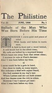 Details about Elbert Hubbard   The Philistine   1906 Original Publication!    Sharp Copy   9