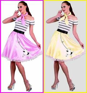 Adult-SANDY-Poodle-Skirt-COSTUME-Sandra-D-Grease-50s-Rock-Roll-Rockabilly-Party