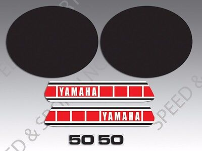 YAMAHA 1981 LB50 LB 50 CHAPPY DECAL GRAPHIC KIT LIKE NOS BLACK COLORATION