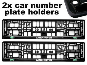 2-x-Doming-CAR-Number-Plate-Surround-Holder-Frames-BEST-FIT-for-LAND-ROVER