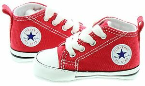 b2f1f034b6c0c8 Converse Red White Baby Boy Girl Baby Crib Shoes New Born All Sizes ...