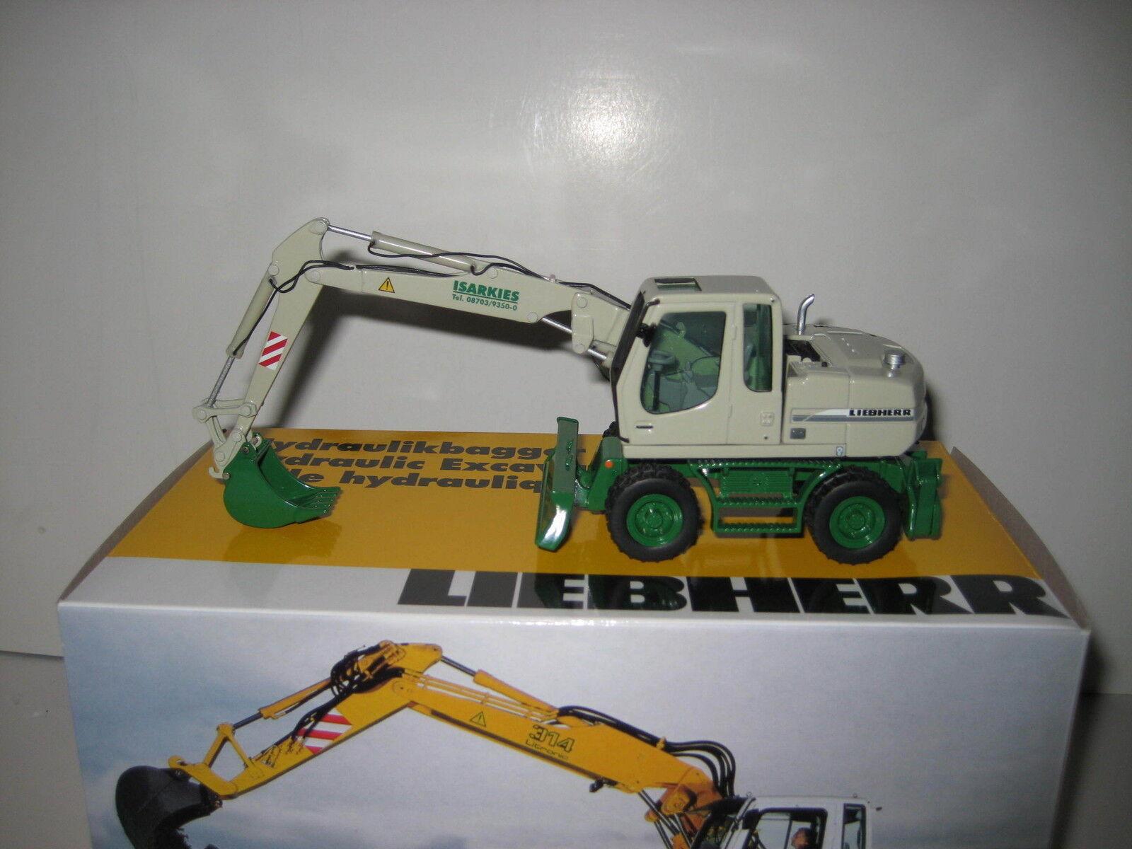 Liebherr A 314 Excavateurs tieflöffel isarkies  498 NZG 1 50 neuf dans sa boîte