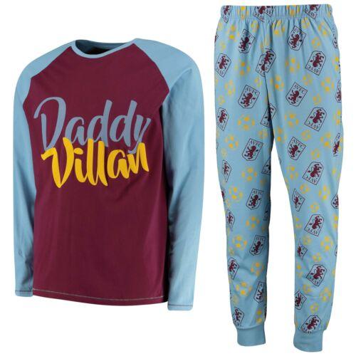 Mens Blue Aston Villa Daddy Villan PJ set