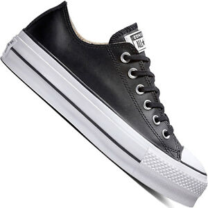 3808bd2eb55 Details about Converse Chuck Taylor all Star Lift Clean Leather Women s  Sneaker Gym Shoe New
