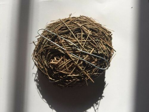 Icelandic Folklore birds nest ornament w//Gold eggs Christmas Ornament for tree