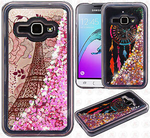 the latest 62fdd 2d749 Details about For Samsung Galaxy Express 3 Liquid Glitter Quicksand Hard  Case Phone Cover