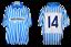 SPAL-maglia-e-pantaloncini-Lega-Pro-2014-2015-match-issued-shirt-and-shorts-14 miniatura 1