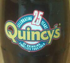 COCA-COLA ~ 1998 ~ QUNICY'S ~ 25-YEAR ANNIVERSARY ~ 8 OZ. BOTTLE ~ SCARCE FIND!