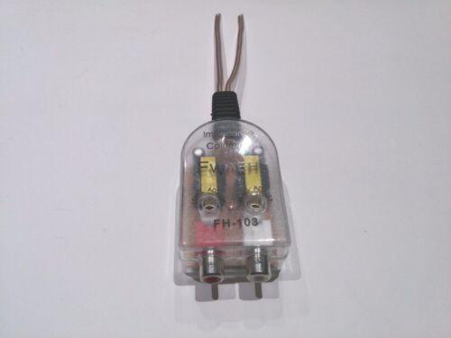 Adaptador de Audio de 2 canales automática del altavoz a Phono RCA Convertidor de impedancia