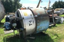 650 Gallon Stainless Steel Jacketed Mix Tank Cone Bottom And Flat Top