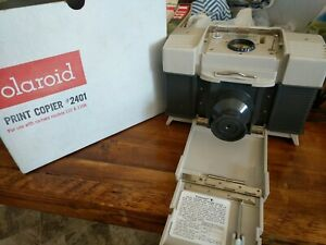 Vintage-Polaroid-Model-2401-Print-Copier-with-box-camera-models-110-110a