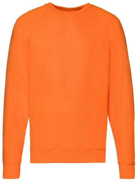 Fruit Of The Loom Plain BLACK Jumper Sweatshirt NO LOGO S-M-L-XL-XXL-XXXL-3XL
