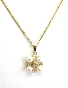 14K-Yellow-Gold-Pendant-w-4-Pearls-and-Diamond-3-1-grams-pendant-3-4