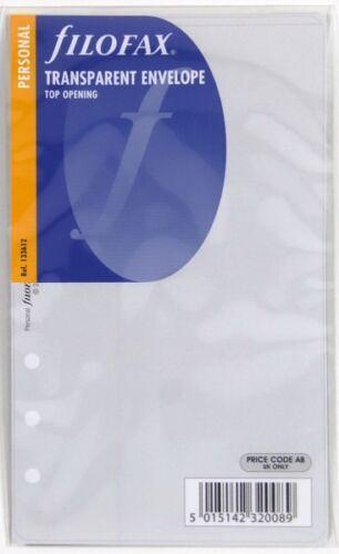 Filofax Einlage Personal transparente Hülle