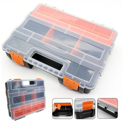 Protable Plastic Carry Work Tools Storage Box Screw Hardware Accessories Holder
