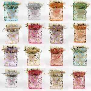 100-Organza-Gift-Bags-Jewellery-Christmas-Packing-Pouches-Wedding-Party-Favour