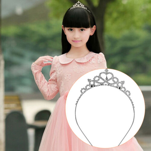 Girl Princess Hairband Kids Party Bridal Crown Headband Crystal Diamond Tiara ZW