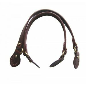 Pair-of-bag-handles-knobs-with-buckle-faux-leather-1-8x43cm-brown