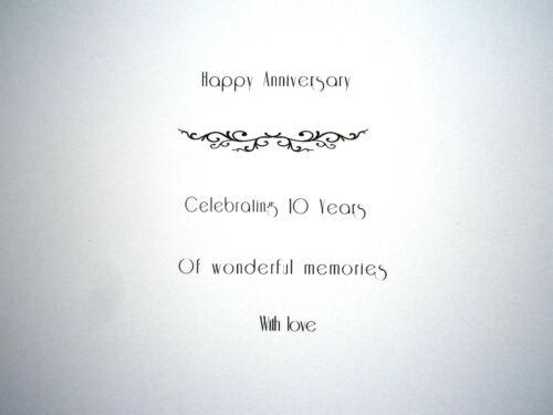 "20cm Personalised HUSBAND WEDDING ANNIVERSARY card ANY YEAR 10,20 etc Large 8/"""