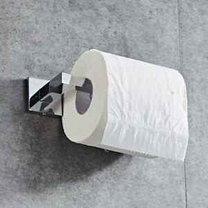 Toilet Paper Roll Holder Stainless Steel Screw Chrome Modern Bathroom Wall Squar 8903840390794