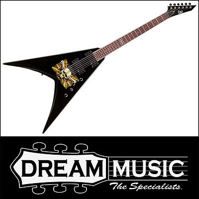 Acoustic Electric Guitars Ltd Lmp-200 Michael Paget Signature Electric Guitar Black & Graphic Rrp$1049
