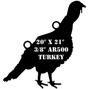 AR500 de acero de 20  X 21  X 3 8  práctica de destino de caza de Turquía Turquía gallina Hembra